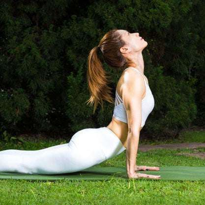 nice lawn for yoga after weed control and fertilization