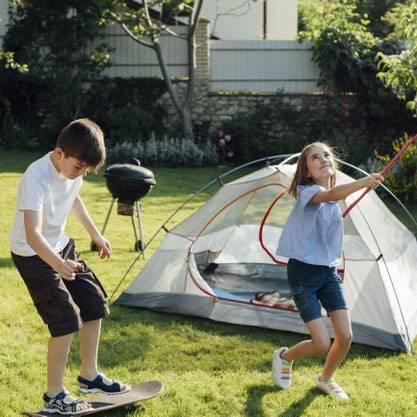 weed control allows calgary family to enjoy their lawn